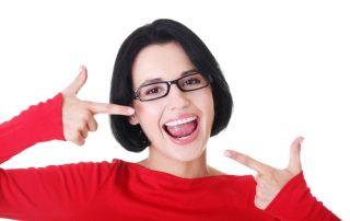 woman after getting veneers